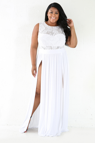 Double Side Mesh Maxi Dress