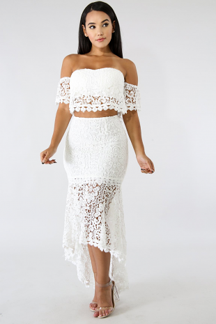 Long Tail Crochet Skirt Set