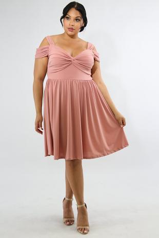 Drape Flare Dress