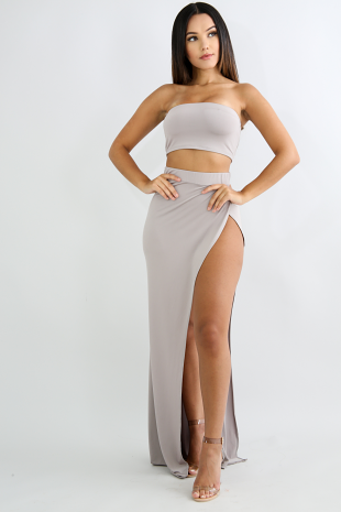 Casual Sensual Maxi Skirt Set
