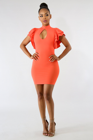 Tiered Body-Con Dress