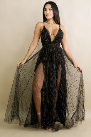 Sparkle Drops Maxi Dress