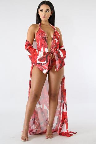 Havana Breeze Kimono Swim Set