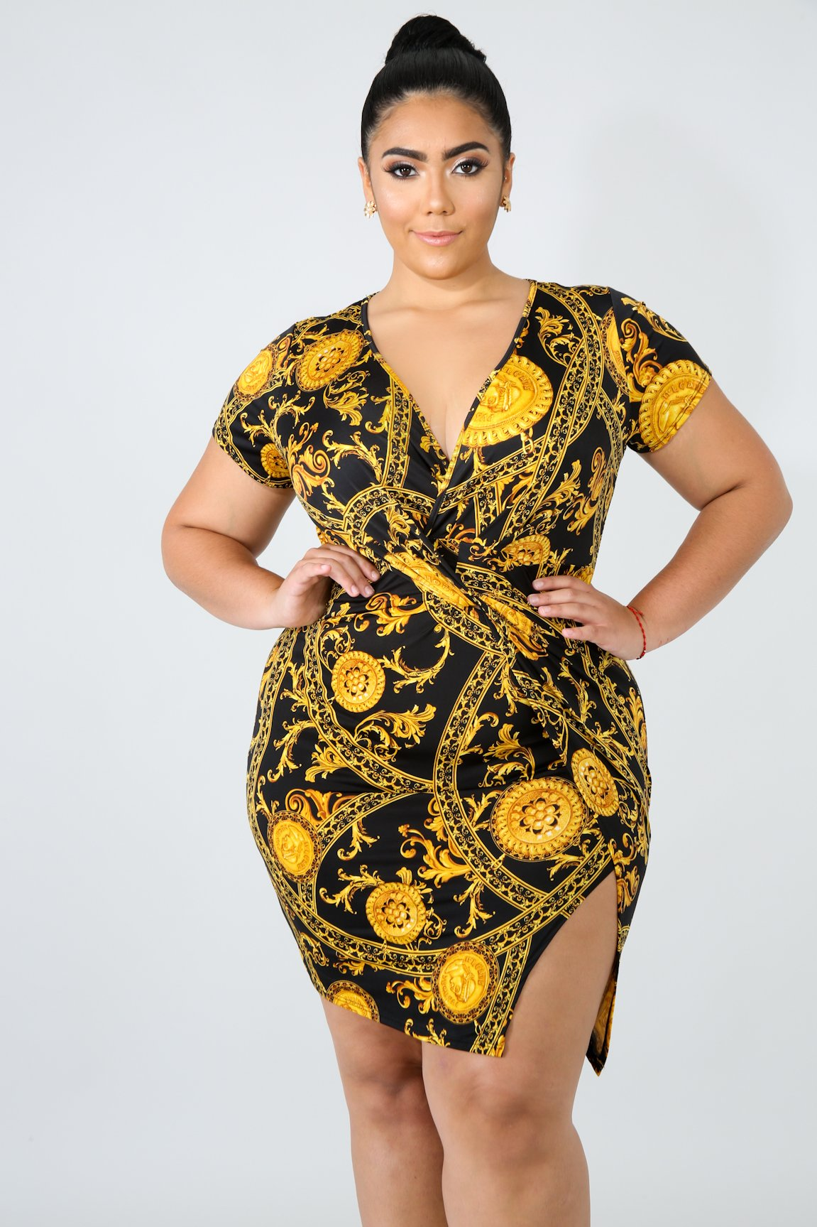 Medallion Twist Body-Con Dress
