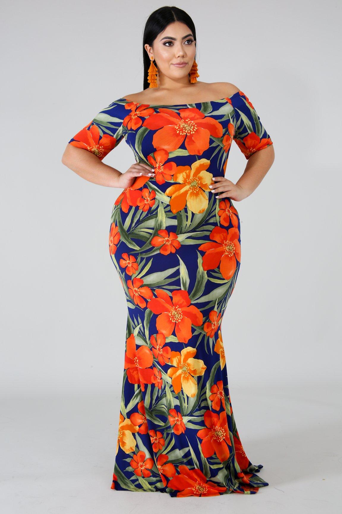 California Poppy Mermaid Dress