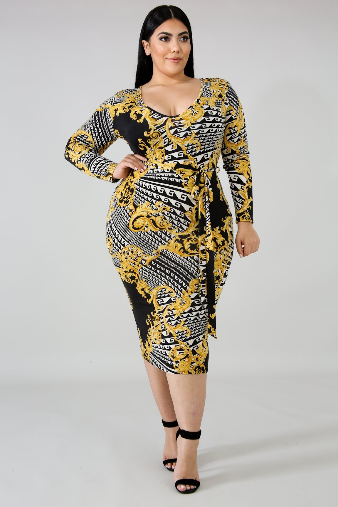 Royalty Maze Body-Con Dress