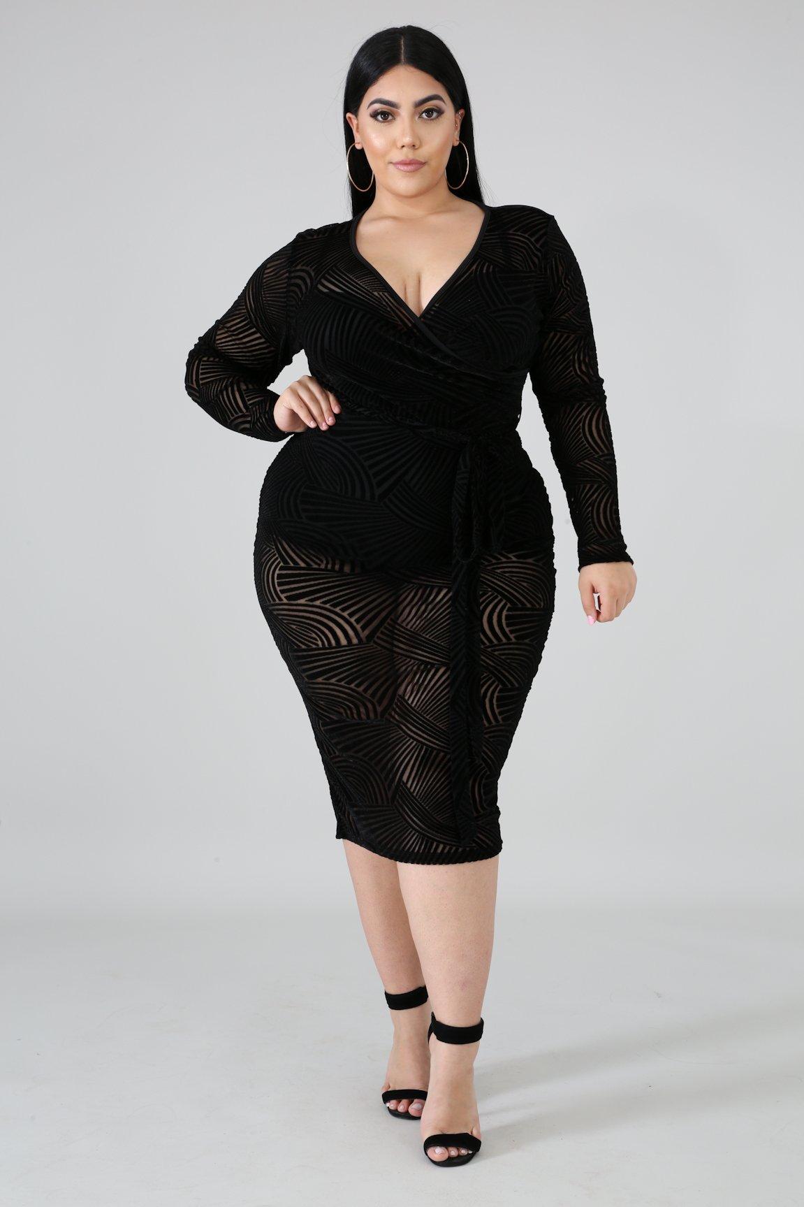 Velvet Sheer Dress