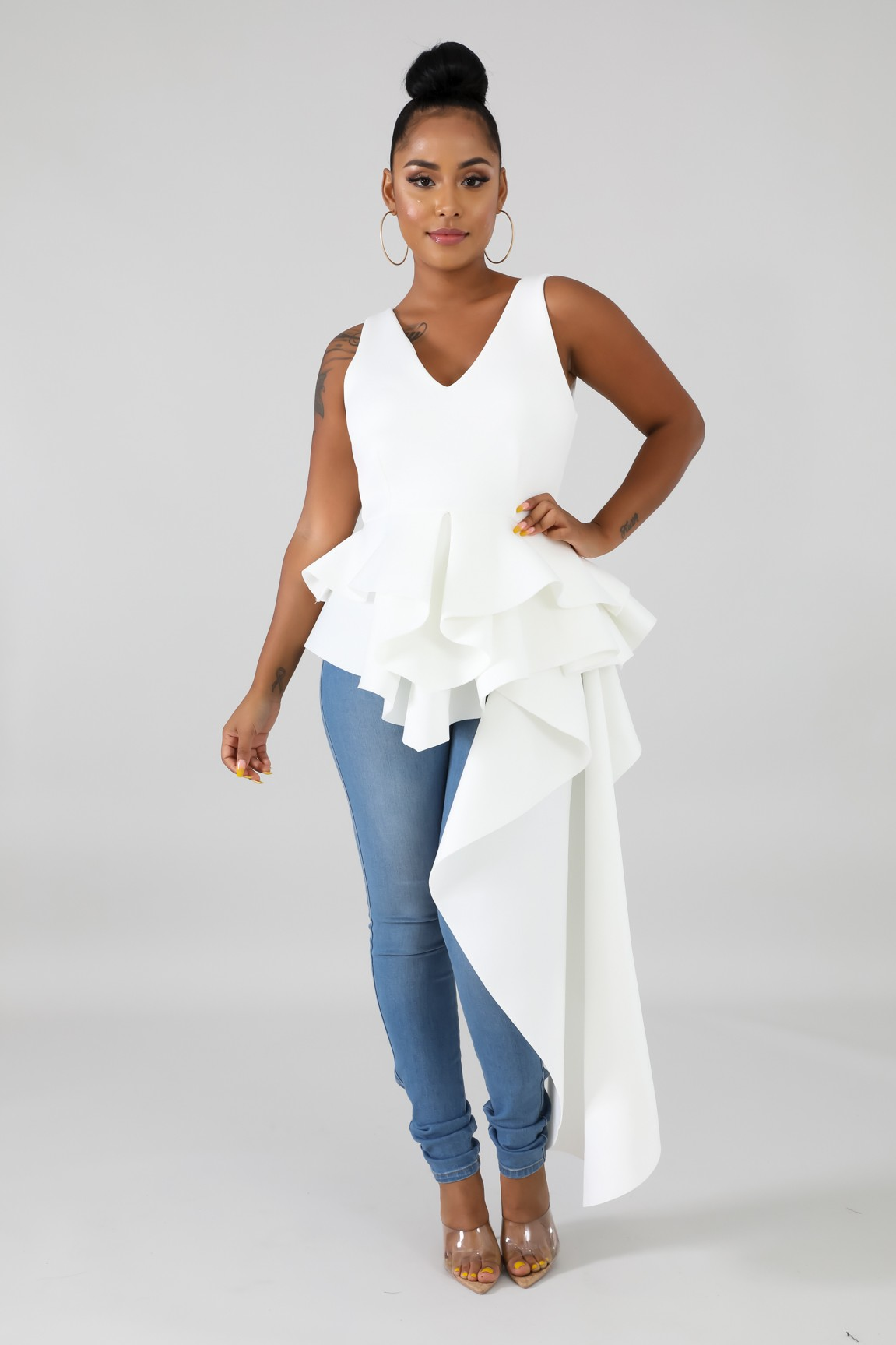 Flare Long Tail Top