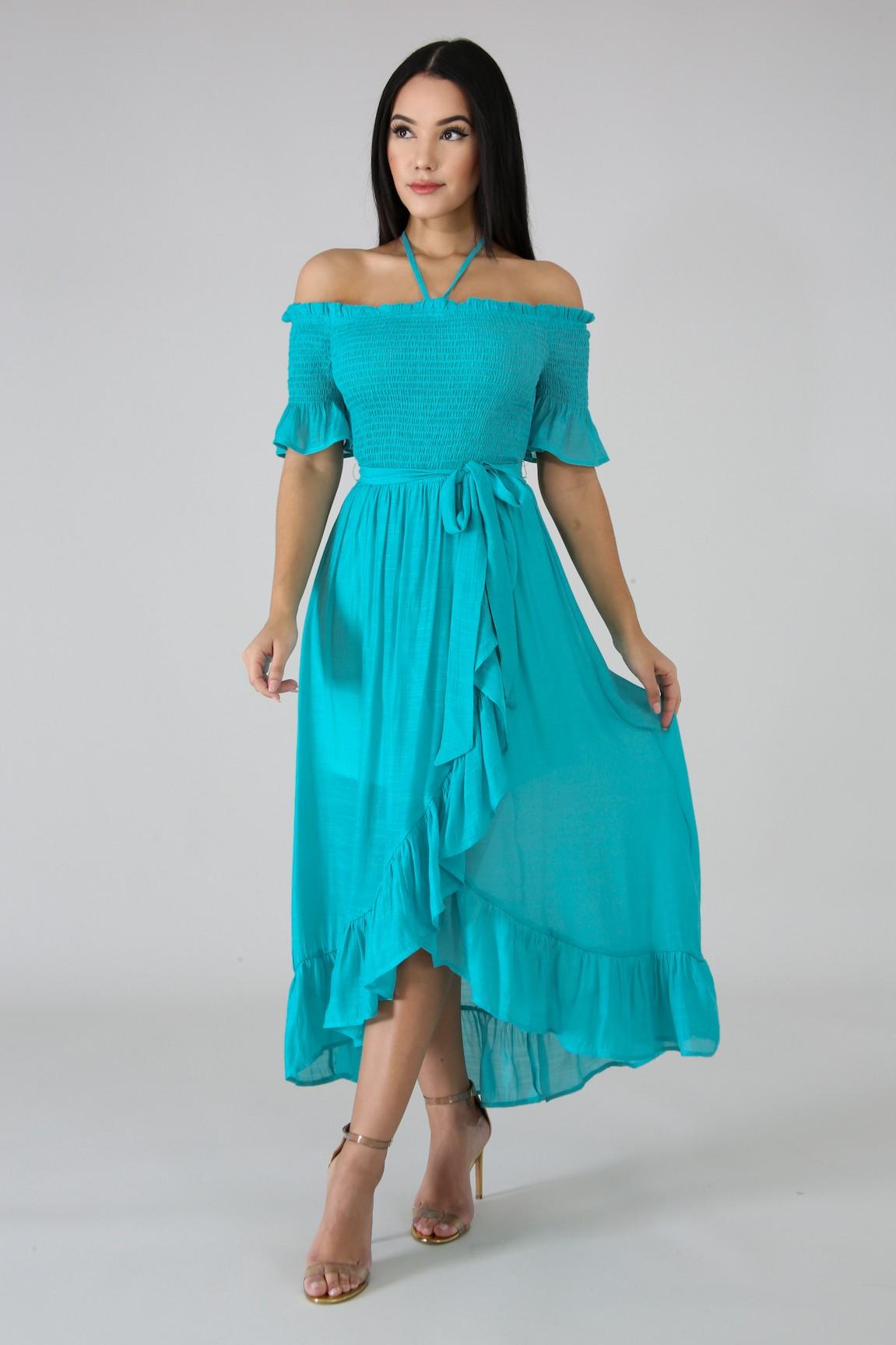 Accordion Flare Dress