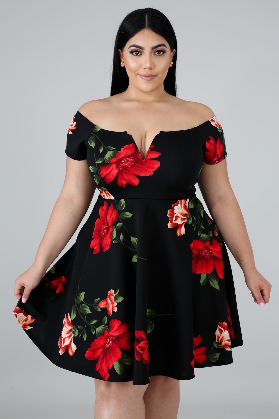 Floral Fun Flare Dress