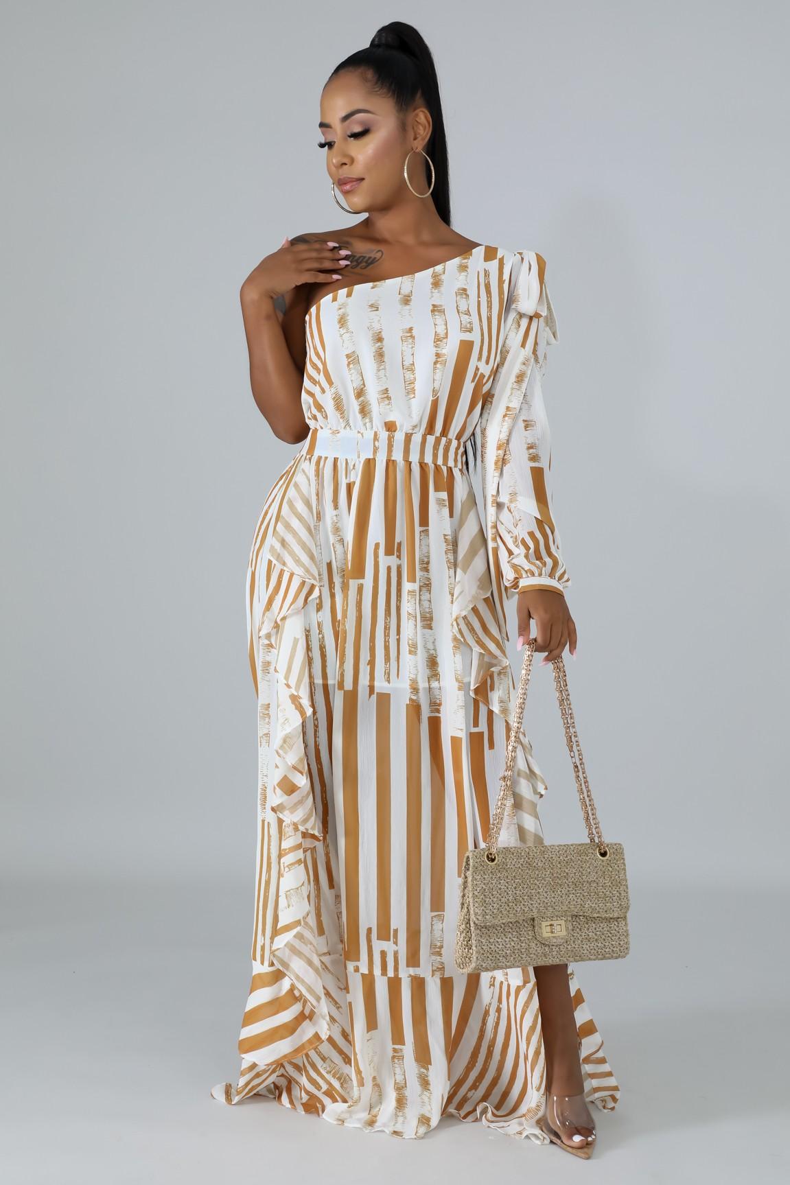 Sun Rays Swirl Dress
