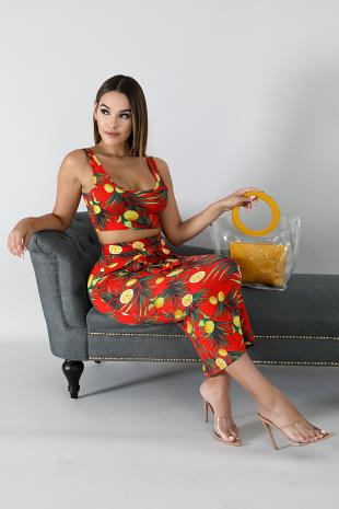 Lemons Skirt Set