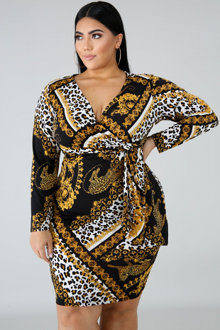 Leopard Medallion Dress