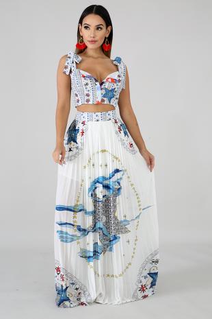 Honey Stars Maxi Skirt Set