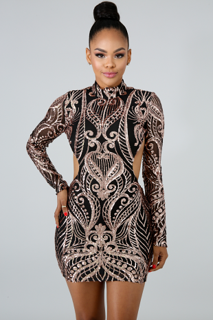Dipped In Sequin Body-Con Dress