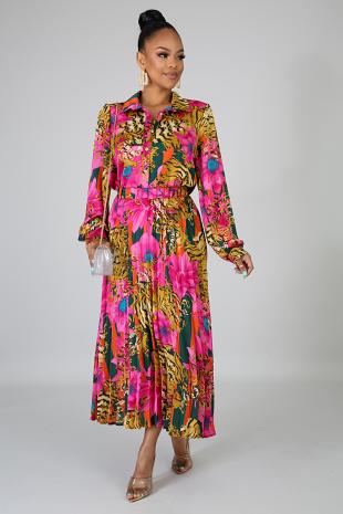 Fierceness Blossom Skirt Set