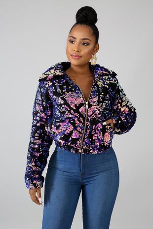 Sequin Velvet Jacket