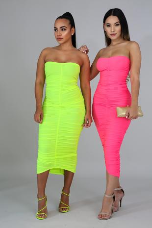 Scrunched Sheer Dress