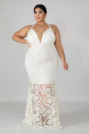Ribbon Swirl Mermaid Dress