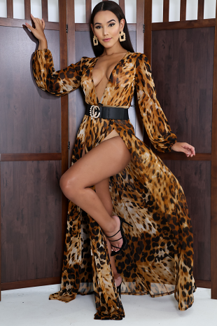 Roaring Slit Maxi Dress