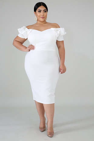 Queen Pleats Body-Con Dress