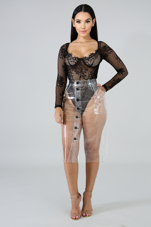 Clear Maxi Skirt