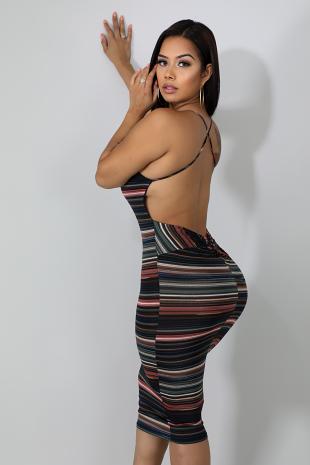 Back Twist Body-Con Dress