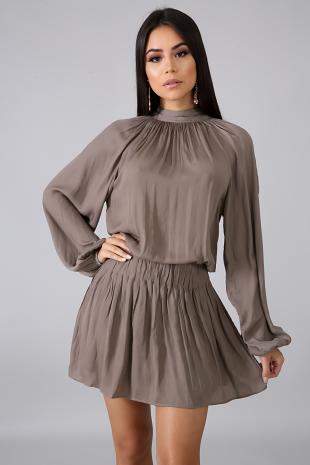 Smooth Satin Dress