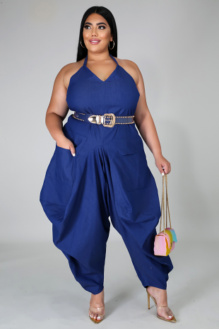 Staying Comfy Denim Jumpsuit