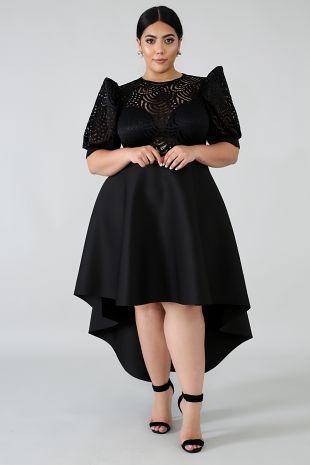 Lace Pelpum Long tail Dress