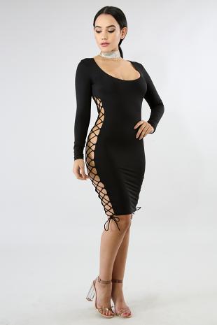 Corset Side Body-Con Dress