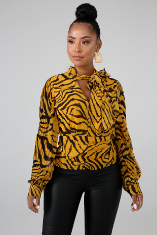 Pleated Tiger Top