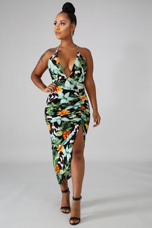 Floral Scrunch Dress