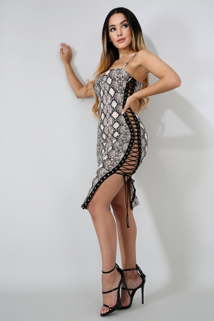Cheetah Side Corset Dress