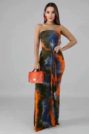 Tube Tie Dye Mermaid Dress