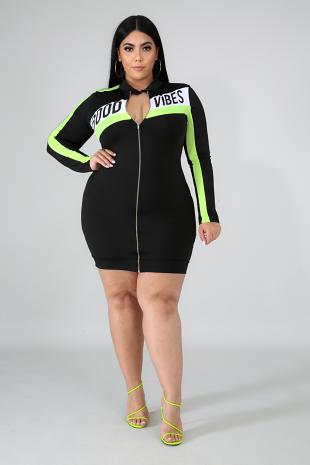 Good Vibes Body-Con Dress