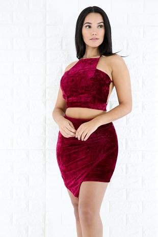 Velvet Skirt Set