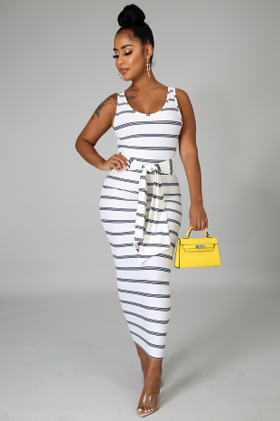 Flannel Smocked Midi Dress