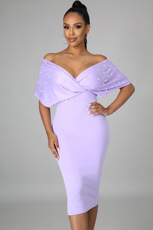 Pearl Elegance Body-Con Dress