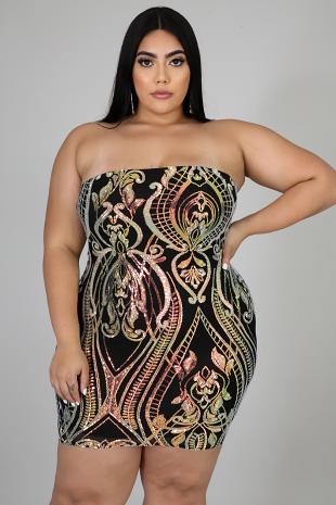 Sequin Glory Tube Dress
