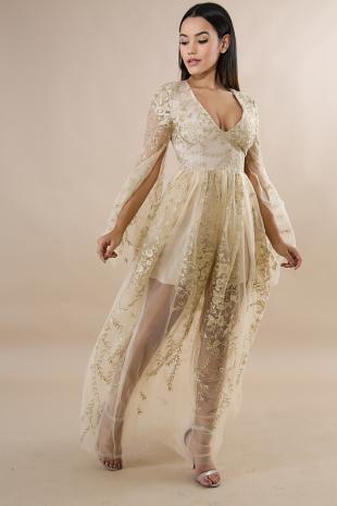 Sweet Darling Lace Maxi Dress