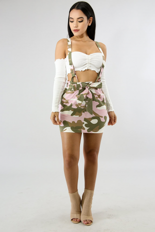 Overall Camouflage Skirt