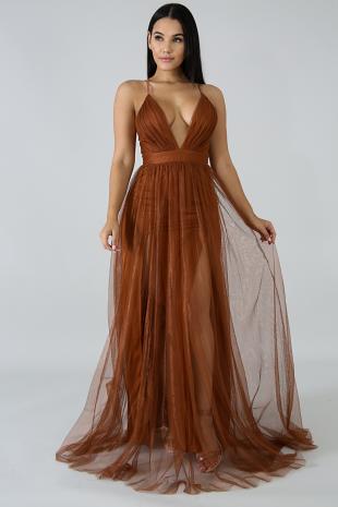 Shimmer Sheer Maxi Dress