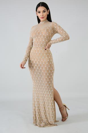 Diamonds Rhinestones Mermaid Dress