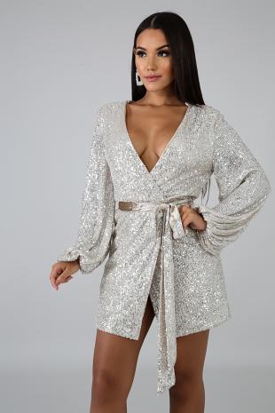 Sequin Silt Dress