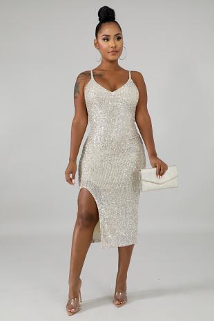 Sequin Fall Midi Dress