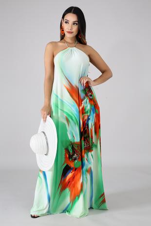 Piece Of Art Maxi Dress