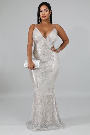 Elegance Lady Maxi Dress