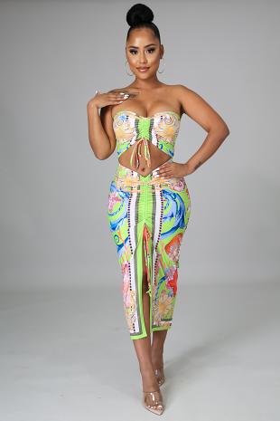 Cassandra Babe Skirt Set