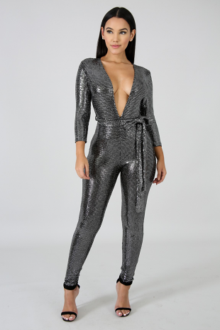 Glam Shine Jumpsuit